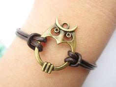 Owl wrap bracelet
