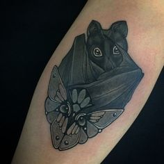 Little bat at @skinwear_tattoo_rimini