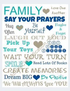 Free Family Rules Printable at ALittleClaireification.com #free #printables #FamilyRules
