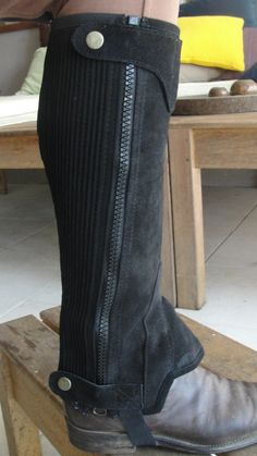 Equestrian Horse Riding Leather Chaps/Gaiters - getting closer!