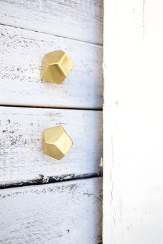 Geometric Knobs Gold Decor Knobs Gold Knobs by honeywoodhome