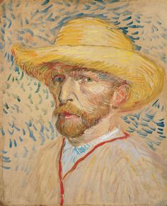 Vincent Van Gogh - Self-Portrait with a Straw Hat, 1887