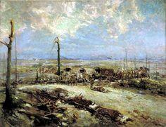 "Alfred Bastien: ""Dressing Station in the Field — Arras, 1915"""