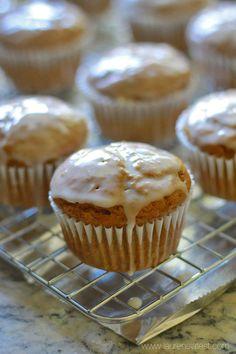 Glazed Pumpkin Bran Muffins