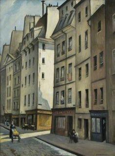 The Athenaeum - Quartier Latin, Paris, France (Christopher Nevinson - ) Harlem Renaissance, Art Deco, Paris France, Bauhaus, Art Parisien, Paris Balcony, Latin Quarter, Cityscape Art, English Artists