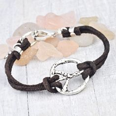 ...release your inner hippie with our Peace Sign bracelet...