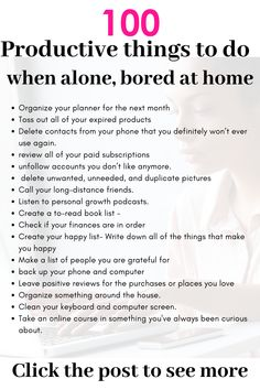doing productive things as bored at home # as .-produktive Dinge zu tun, als gelangweilt zu Hause productive things to do as bored at home # as # bored do - Life Hacks, Life Tips, Life Lessons, Vie Motivation, Bored At Home, Productive Things To Do, Habits Of Successful People, Productive Day, Successful Women