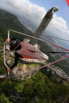 the Christ Statue Ala Delta, Light Sport Aircraft, Brazil Carnival, Rock Climbing Gear, Hang Gliding, Walk The Earth, Bungee Jumping, Paragliding, Wonderful Places