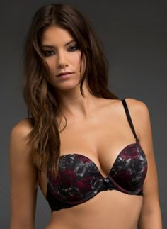 275e9b48c7752 Rose Print Killer Extreme Push-Up Bra SKU  10166722 save up to Off on  entire purchase at BlackHeart Lingerie using Coupon   Promo Codes.