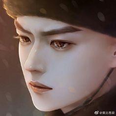 Digital Art Girl, Asian Actors, Actors & Actresses, Handsome, Fan Art, Drama, Faces, Kpop, Drawings