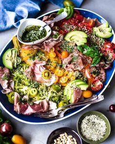 Heirloom Tomatoes, Prosciutto and Pesto Salad @primalgourmet