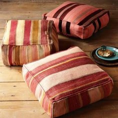 Floor cushions offer opportunities to update the look and feel of your room withouth changing much.
