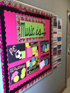 Great bulletin board idea for how music relates to other subjects
