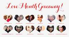 It's all about #Love and Giving for this month! <3 So me and my co-beauty bloggers are giving away tons of prizes to 7 lucky winners! Plus some special paypal cash too! Join now! Check out the easy mechanics on my blog! http://www.aishakristine.com/giveaways/love-month-giveaway.html #free #freebie #giveaway