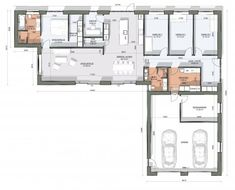 House Floor Plans, Planer, Bungalow, Sweet Home, Flooring, How To Plan, Terrace, Home Plans, Homes
