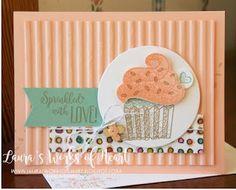 Stampin' Up! Happy Birthday Images, Happy Birthday Wishes, Card Birthday, Birthday Greetings, Handmade Birthday Cards, Greeting Cards Handmade, Card Making Tutorials, Making Ideas, Cupcake Card