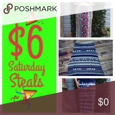 """🎉Ends at Midnight 🎉 Have your eye on these marvelous maxis? Take advantage of this $6 Saturday STEAL and snatch them at a bargain! Ends at midnight! Purchases must be made through original listings. Look for """"🎉"""" and save! Skirts Maxi"""