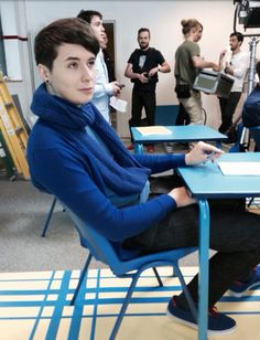 Sitting in class with Dan Howell👻 Daniel James Howell, Dan Howell, Phil Lester, Youtube Rewind, British Youtubers, Dan And Phill, Phil 3, Danisnotonfire And Amazingphil, Tyler Oakley