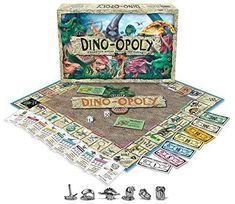 Dino-Opoly Monopoly Game $24.99  Description Dino-Opoly Monopoly Board Game For 2-6 players Learn about dinosaurs while you play Choose traditional play or one hour version Opoly-style play Board spaces are all dinosaur-related Learn about dinosaurs while you play Choose traditional play or one hour version Opoly-style play For 2 to 6 players Board spaces are all dinosaur-related