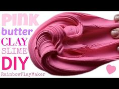 DIY EASY PINK BUTTER SLIME RECIPE!! SIMPLE MILKY SLIME & CLAY MIXING!!! SATISFYING VIDEO - YouTube
