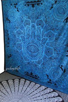 Queen Indian Hamsa Hand Wall Hanging Tapestry Art Hippie Bedspread Gypsy Blanket #Unbranded #ArtDecoStyle