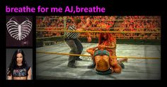 "My Banner on my site on Google+.With a special Art picture from myself,a screenshot of the fight WWE NXT AJ vs Maxine&Derrick Bateman,blue outfit-you can see this fight in my Folder""AJ Brooks Videos"".Breathe for me AJ,breathe.-<Marki>-"