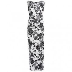 Gina Bacconi black and white floor length floral dress. http://www.middletonwood.co.uk/