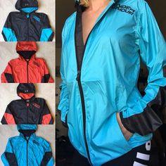 UNDER ARMOUR Cold Gear Loose Light Packable Windbreaker Rain Coat Hooded Jacket  #UnderArmour #Raincoat