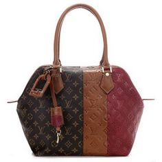 Louis Vuitton Monogram Blocks Tote Bags M40503 Bordeaux