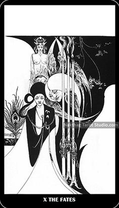 Aubrey Beardsley Tarot - X. The Fates