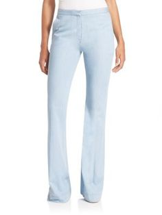 DIANE VON FURSTENBERG Katara Flared Chambray Pants. #dianevonfurstenberg #cloth #pants