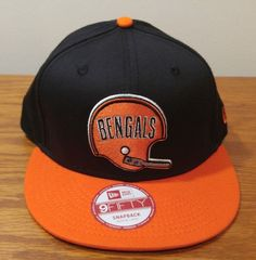 innovative design f3245 76e8a Era 59fifty Cincinnati Bengals Retro Throwback Football Hat Cap Snapback M  L for sale online   eBay