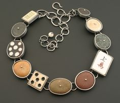 Kristi Zevenbergen, Collection #8 Necklace in sterling silver, 18k, and found objects