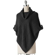 SONOMA life + style® Cable-Knit Sweater Poncho sale $24.99