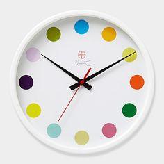 ダミアン・ハースト:スポット ウォールクロック:(Damien Hirst,2009) MoMA STOREの通販   モダンでアートなリビング、掛け時計・置時計を通信販売で