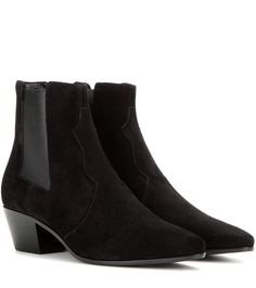 Black suede ankle boots  St. Laurent
