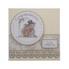 Handmade Wedding Day Card £1.80