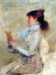 Portrait of Sarah Bernhardt  by Jules Bastien Lepage. 1879