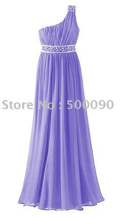 Lilac one shoulder dress