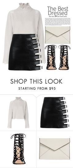 """""""TOPSET B&W mood"""" by theapapa ❤ liked on Polyvore featuring Golden Goose, Gianvito Rossi and Rebecca Minkoff"""