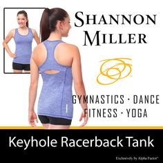 This keyhole tank is brilliantly designed for looks and function. You'll love the details and how it makes you feel.