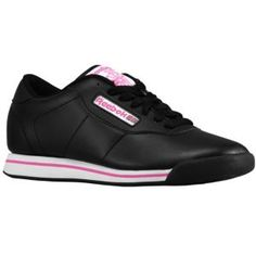 Reebok Princess - Women's - Sport Inspired - Shoes - Black/White/Dynamic Pink- YES THEY ARE!