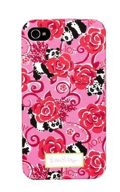 Alpha Omicron Pi Lilly Pulitzer iPhone 5 Cover.  www.sassysoroity.com  #AOPI  #iphone5