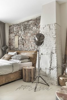 ONLY PHOTOGRAPHY | Bed side table and tall mirror w/ wood frame are so gorgeous!