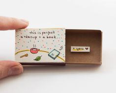 "Love Card Anniversary Card ""This is perfect"" Matchbox Gift box / Message box"
