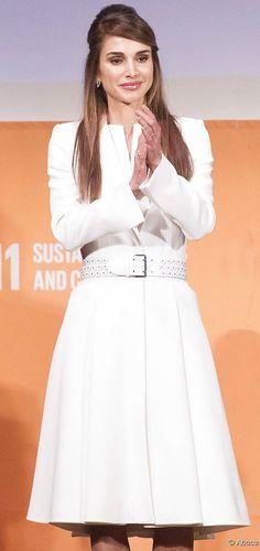 Queen Rania of Jordan in Alexander McQueen - 2015 Social Good Summit at 92nd St, New York, September 27, 2015