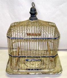 Antique Hendryx Wire Bird Cage | eBay