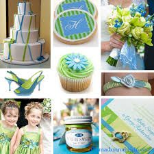 teal and lime green wedding colors - Google Search