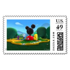 Mickey Mouse Clubhouse Postage Stamps. This is a fully customizable business card and available on several paper types for your needs. You can upload your own image or use the image as is. Just click this template to get started!