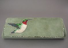 beaded hummingbird purse, Teri Greeves (Kiowa)